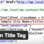 記事のタイトルタグを好きに編集できるWordPressプラグイン mypace Custom Title Tagを公開